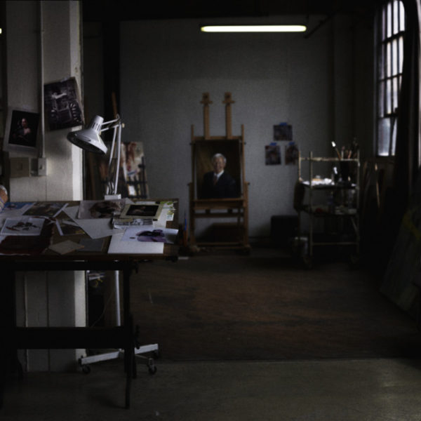 Constance Edwards Scopelitis Website Design, view of Constance in her Studio
