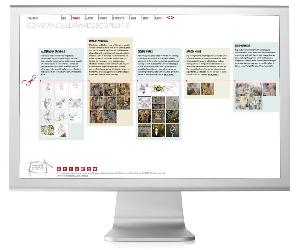 Constance Edwards Scopelitis Website Design Projects Page