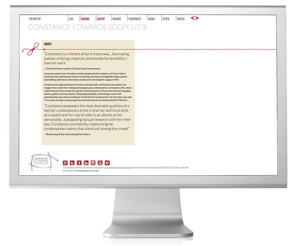 Constance Edwards Scopelitis Website Design About Page