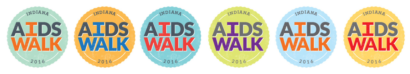 Indiana AIDS Walk Event Materials Design, Color Options