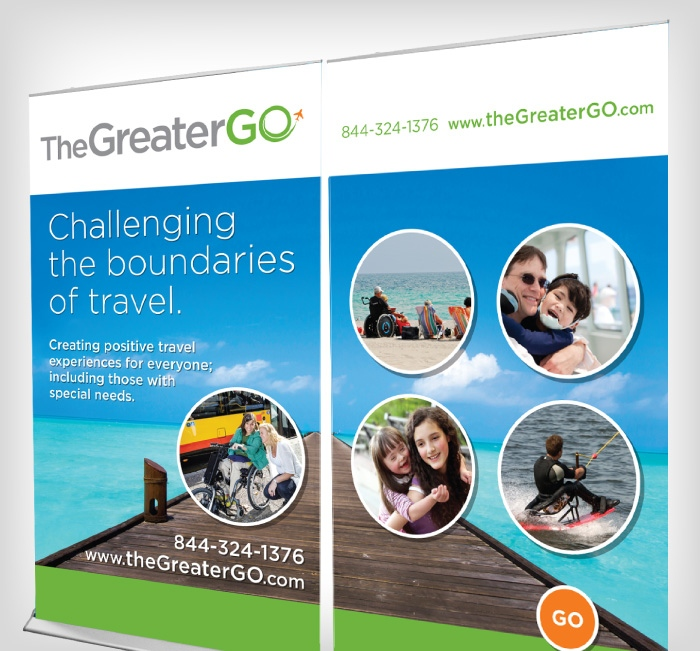 The Greater Go Tradeshow Display Banner