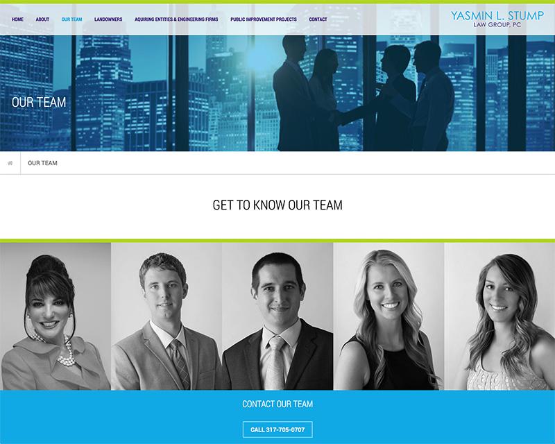 Yasmin Stump Website Design Team Page