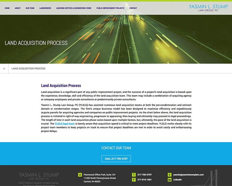 Yasmin Stump Website Design Internal Page View
